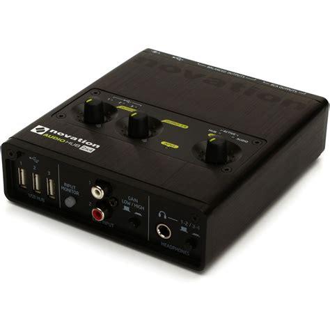 Daftar Audio Interface Usb novation audiohub 2x4 audio interface and usb hub at