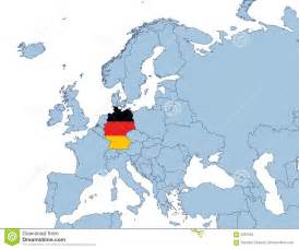 map of europe germany germany on europe map stock images image 4291054