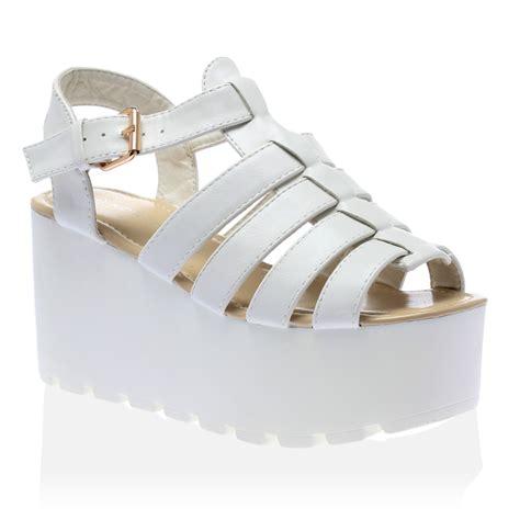 chunky gladiator sandals womens flatform chunky wedge cleated sole gladiator