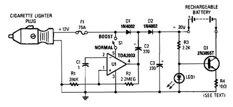 car charger circuit diagram 12vdc mobile battery charger power supply circuits