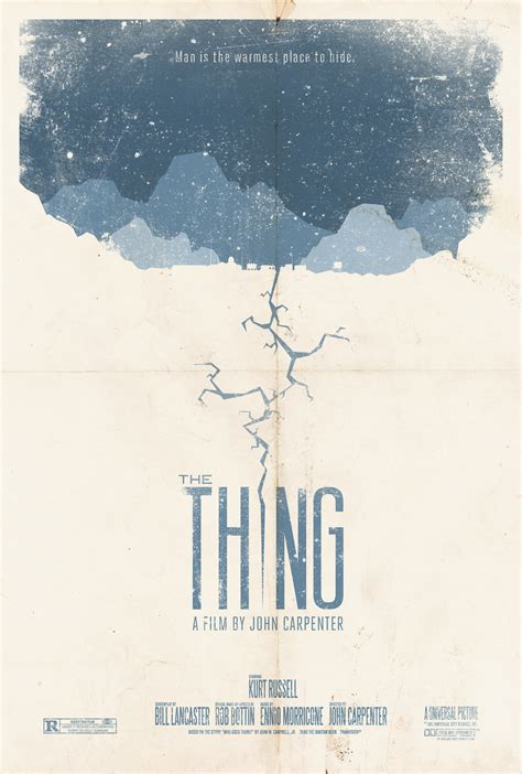 the thing minimalist poster alternative posters a chance to live many lives