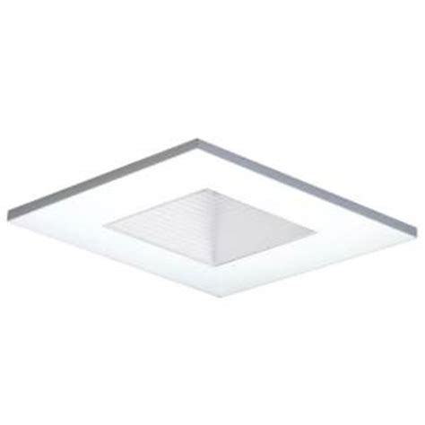 home depot recessed lighting a9fab20b halo 3 in white recessed ceiling light square adjustable baffle trim 3011whwb the home depot