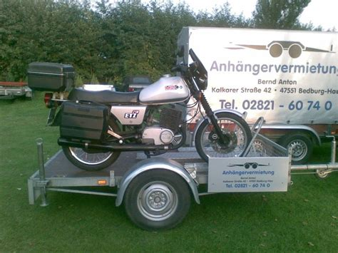 Motorrad Und Roller Springe by Motorradtransporter Anton Anh 228 Ngervermietung