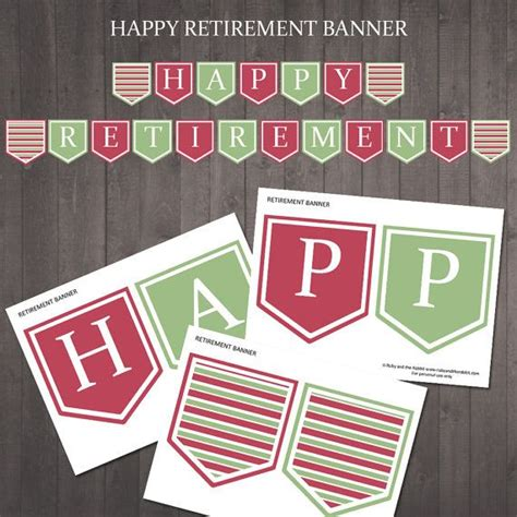 printable retirement road signs printable quot happy retirement banner instant download