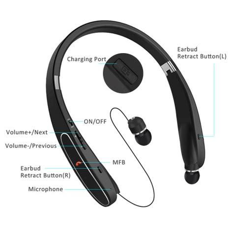 bovon bluetooth headphones wireless neckband headset 20 hours playtime noise cancelling