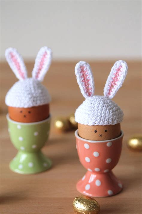 tiny crochet easter egg bunny hats favecraftscom