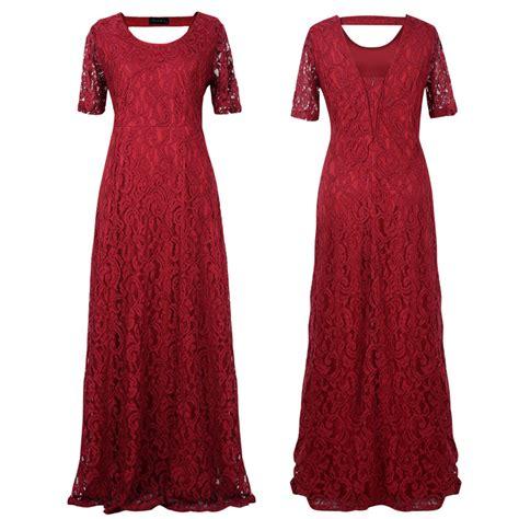 Voerin Dress Lace Size S 2016 big size flower lace dress plus size floor length hollow lace