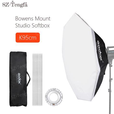 Godox Softbox Size 95cm Bowens Mount Speedring Studio godox octagon softbox 95cm 37 quot bowens mount speedring studio strobe flash light in photo studio