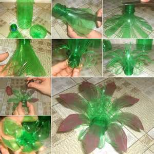 Vase Out Of Plastic Bottle Pretty Flowers By Using Plastic Bottle Art And