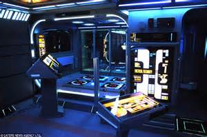 spaceship bedroom it s a flat jim but not as we it trekkie turns his home into starship daily mail