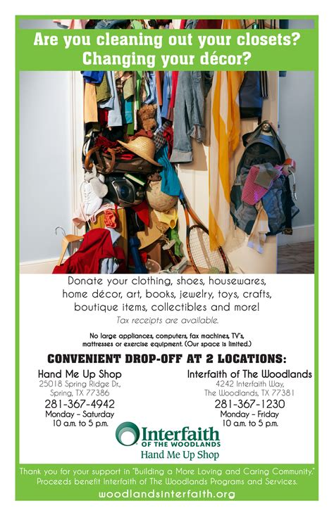 Tbf Fashion Newsletter Cleaning For Your Closet The Budget Fashionista by Hmus Donation Flyer Clean Out Closets Interfaith Of The