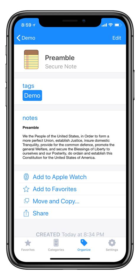 iphone j d 1password secure notes now with markdown formatting iphone j d