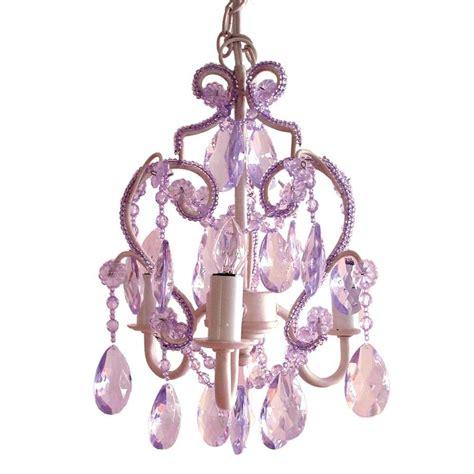 Lavender Chandelier Tadpoles 3 Light Lavender Topaz Mini Chandelier Cchapl005 The Home Depot