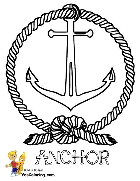 pin anchor coloring page picture super on pinterest