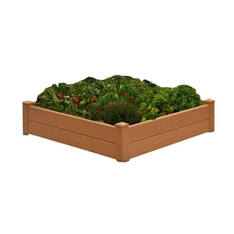 home depot garden bed outdoor living today 6 ft x 3 ft cedar raised garden bed