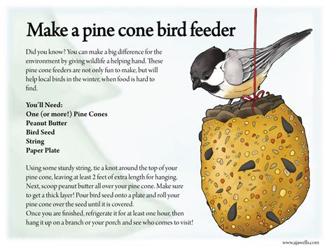 make a pine cone bird feeder by ursusarctos on deviantart