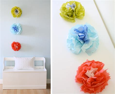 How To Make Paper Wall Flowers - 7 upcycled diy paper flowers tinkerlab