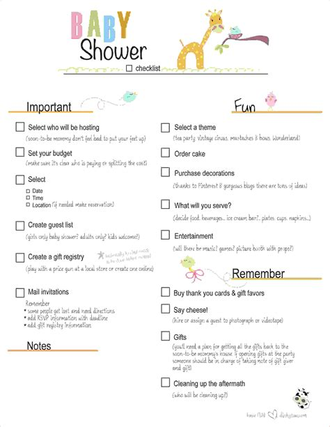 baby shower checklist template 7 baby shower planning checklist procedure template sle