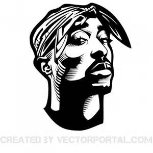 2pac shakur vector portrait freevectors net