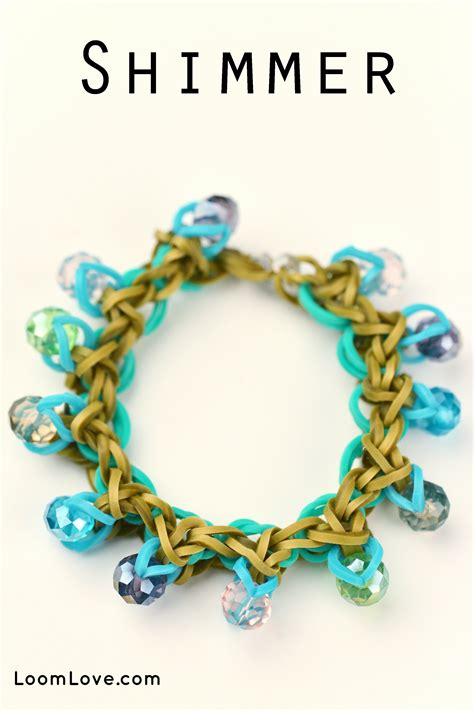 make rubber band jewelry how to make a shimmer bracelet loomlove