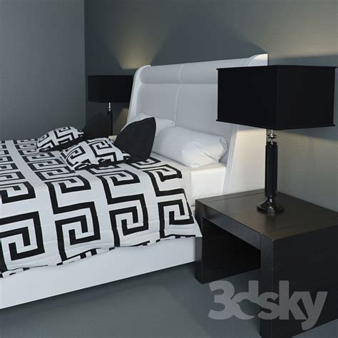 versace bedroom set 3d models bed versace bed set