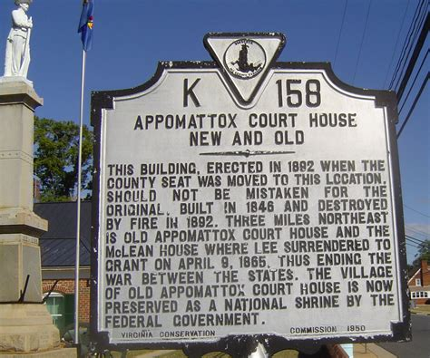 appomattox court house file appomattox court house new and old marker jpg wikimedia commons