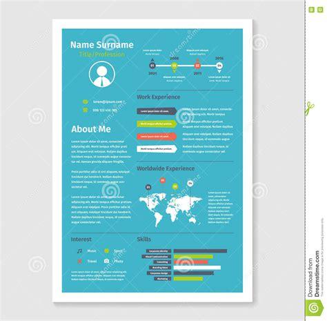 Resume Format Vector Vector Document Resume Cv In A4 Format Stock Vector Image 71487451