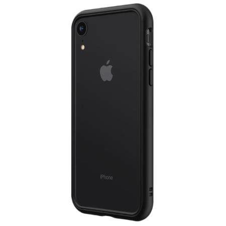 rhinoshield crashguard iphone xr protective bumper black