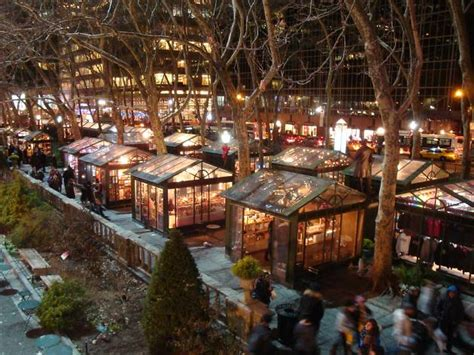 bryant park winter village guide to the best holiday market