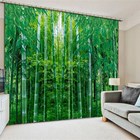 custom bamboo curtains custom curtains 3d landscape bamboo curtains for bedroom