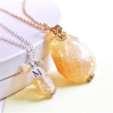 november birthstone topaz or citrine personalised citrine or topaz pendant by jamie london