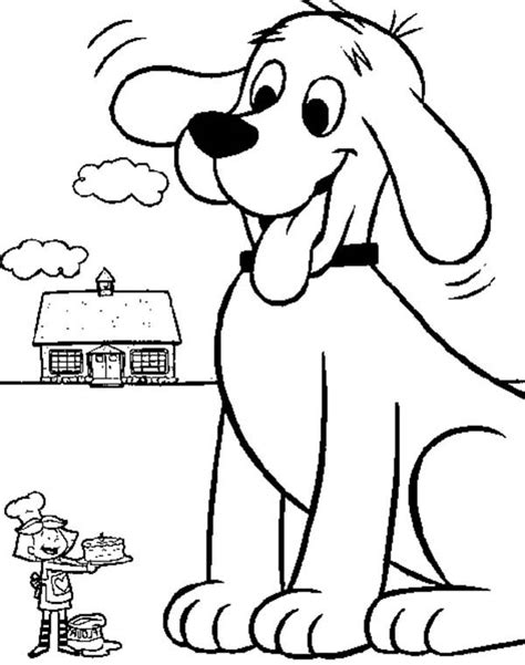 coloring pages big dogs perrito clifford 14gif clifford the big red dog coloring