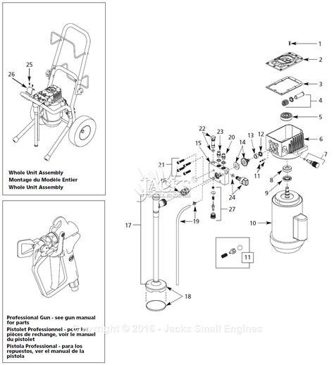 sprayer parts diagram cbell hausfeld al2550 parts diagram for paint sprayer parts