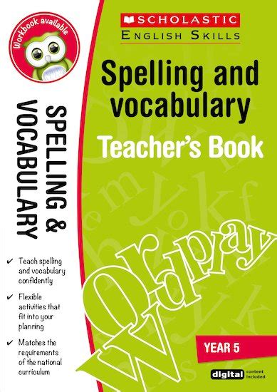 scholastic english skills spelling and vocabulary teacher s book year 5 scholastic shop