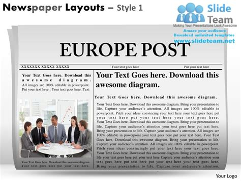 newspaper layout for powerpoint newspaper layouts style 1 powerpoint presentation slides