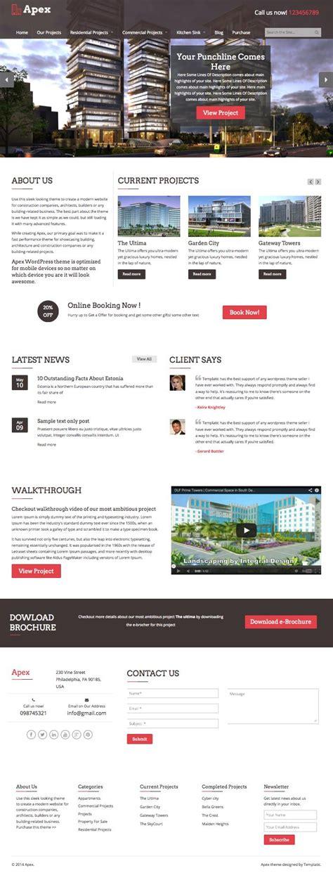 themes builder wordpress apex wordpress theme builders architects or construction