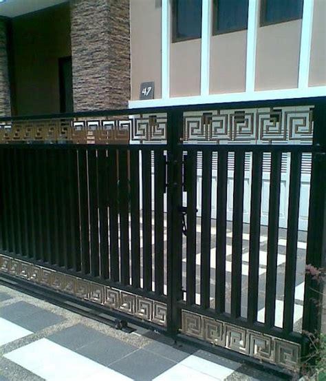 teralis minimalis: pintu pagar besi