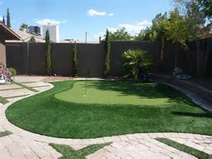 nevada backyard putting green las vegas from desert greenscapes water wise