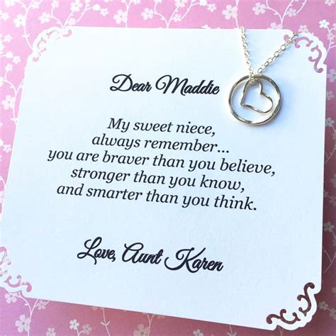 Wedding Gift Niece by Gift For Niece Necklace Sterling Silver Personalized