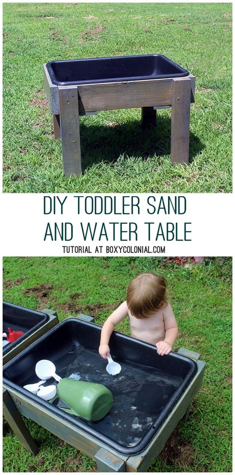 diy toddler water table from recycled wood the backyard