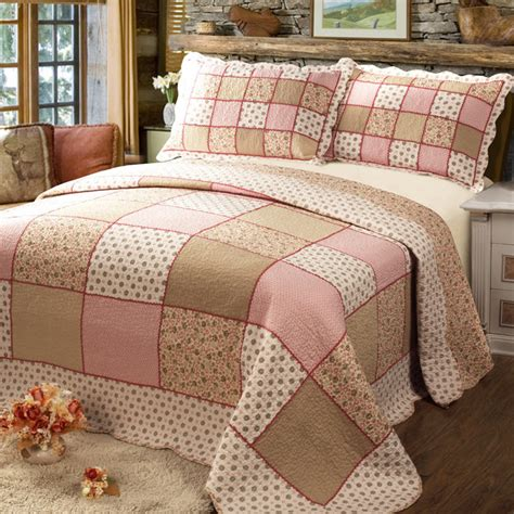 Bed Cover Patchwork - 100 cotton patchwork quilting by set bed cover