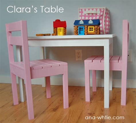 creative ideas   childs table  stackable chair plans