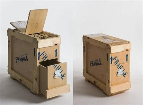 Furniture collection made from shipping crates