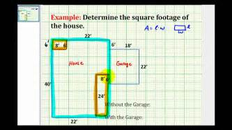 How To Calculate The Square Footage Of A House by Ex Find The Square Footage Of A House Youtube