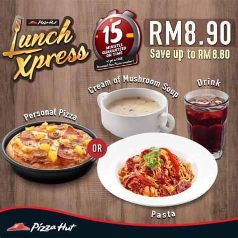 Harga Spaghetti by Pizza Hut Lunch Xpress Menu Pizza Or Pasta Combo Set Rm8