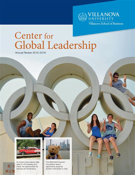 Of Global Mba Review by Center For Global Leadership Annual Review 2015 2016 By