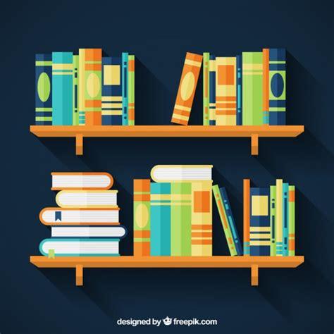 estantes para libros gratis libros coloridos en estantes descargar vectores premium