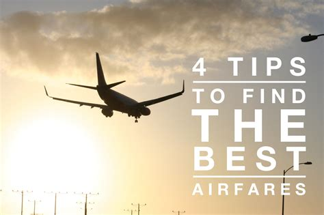 4 to find the best airfare deals