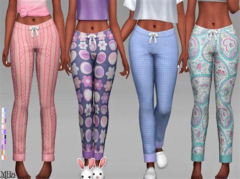 sims 4 pajamas margeh 75 s s4 40 winks pyjama bottoms