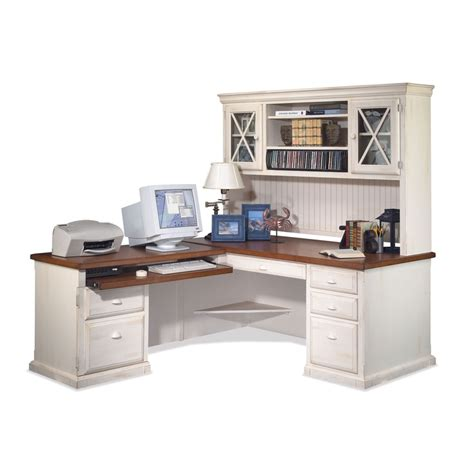 White Office Desk With Hutch Furniture White Corner Desk With Hutch Storage Ideas